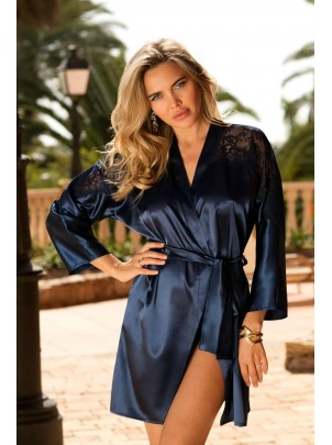 Elegante vestaglia Alexandra Blu Navy
